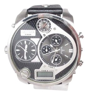 Diesel Diesel Dz7125 Mens Mr. Daddy Black Leather Time Zone Chronograph Watch Sba