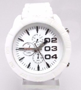 Diesel Diesel Mens Chronograph White Ceramic Watch Dz4220 Crown Broke Off