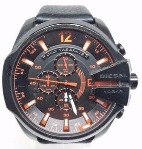 Diesel Diesel Mens Master Chief Dz4291 Black Leather Quartz Watch