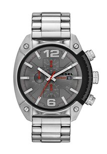 Diesel Diesel Mens Overflow Dz4298 Silver Stainless-steel Quartz Watch
