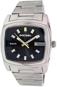 Diesel Diesel Mens Silver Dial Bar Water Resistant Date Watch Dz1556 Light Scratches