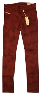 Diesel Stretchy Skinny Pants Bordeaux