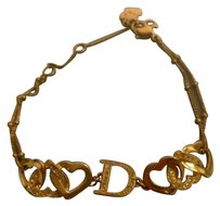 Dior Auth [Mint Cond.] Christian Dior Womens CD Logo Gold Bracelet