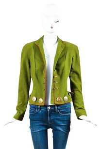 Dior Christian Boutique Green Green, Red, Bronze Tone Hardware Jacket