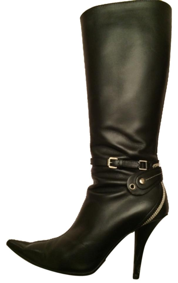 Dior Black Leather Boots/Booties Size US 7.5 Regular (M, B) B) (M, fcbf6c