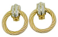 Dior Christian Dior Gold Vintage Clip On Earrings