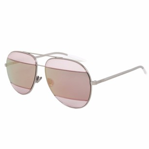 Dior Christian Dior Split Sunglasses 0100j Palladium Frame Pink Mirrored Lens