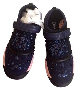 Dior Christian Sneakers Navy blue Athletic