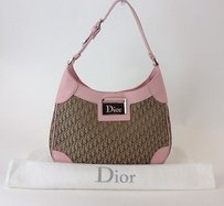 Dior Christian Canvas Hobo Bag