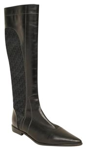 Dior Leather Canvas Black Boots