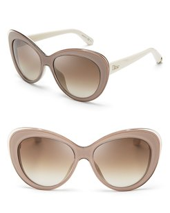 Dior New Dior Promesse 1 Ivory/ Beige Cat eye Sunglasses