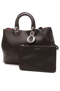 Dior Christian Bull Calf Leather Diorissimo Satchel in Black