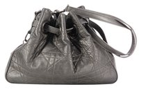 Dior Silver Christian Agneau Shoulder Bag