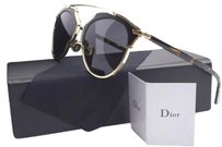 Dior So Real Leather-Trim Metal Sunglasses Dior So Real Leather-Trim Metal Sunglasses
