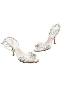 Dior Christian Leather Silver Sandals
