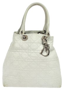Dior Vintage Christian Tote in White