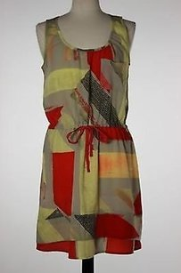 DKNY short dress Multi-Color Jeans Womens Yellow Red on Tradesy