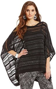 DKNY Poncho Mesh Knit Sweater