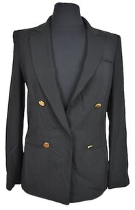 DKNY 10 12 Dkny Womens Solid Black Double Breasted Blazer Size