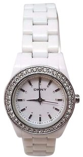DKNY Dkny Womens Ny8145 Chambers Crystal White Watch