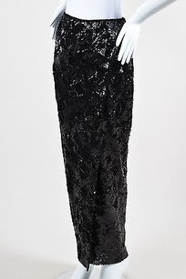 DKNY Donna Karan York Sequin Maxi Skirt Black