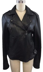 DKNY Lamb Leather Motorcycle Jacket