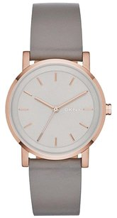 DKNY NIB DKNY Women's Parsons Beige Leather Strap Watch 34mm NY2370