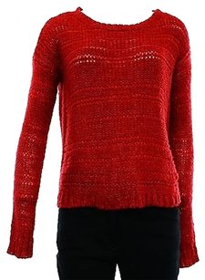 DKNY Jeans Shimmer Red Womens Sweater