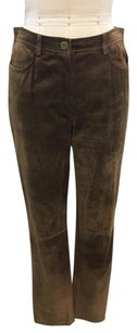 DKNY Camel Suede Lined Pants