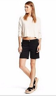 DL1961 Sol Lily Trouser Bermuda Shorts Black