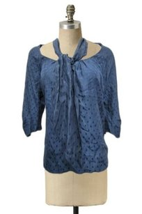 Dolan Anthropologie Silk Navy Top Blue