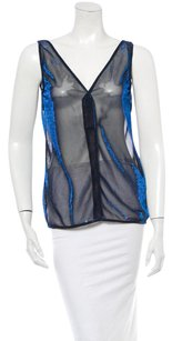 Dolce&Gabbana Dolce & Gabbana Made In Italy Women Clothing Top Metallic blue and black