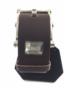 Dolce&Gabbana Dolce Gabbana Brown Leather Silver Buckle Bracelet 7 To 9