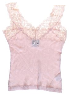 Dolce&Gabbana Lace Trim Top Pink