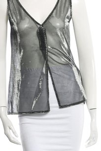 Dolce&Gabbana Dolce & Gabbana Made In Italy Knit Top Metallic silver and black