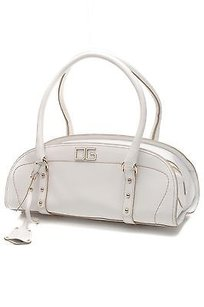 Dolce&Gabbana Leather Eastwest Satchel in White