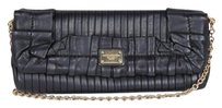 Dolce&Gabbana Leather Pleated Ruffle Flap Envelope Clutch Shoulder Bag