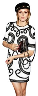 Dolce&Gabbana Black Olivia Palermo Short Scroll Embroidered 426 Dress