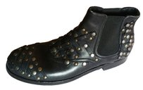 Dolce&Gabbana Studded Leather Vintage Black Boots