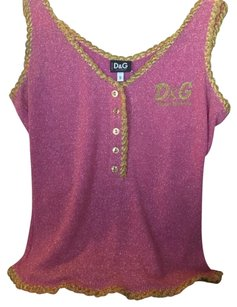 Dolce&Gabbana Top Pink and gold