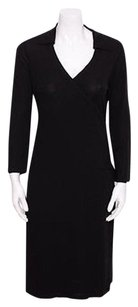 Dolce&Gabbana Dg V Neck Stretch Long Sleeve Wrap 426m Dress
