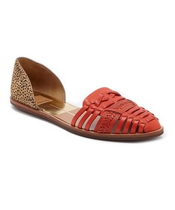 Dolce Vita Bright Red & Leopard Calf hair Flats