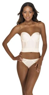 Dominique Backless Satin Longline Bra 6377 Ivory 36C
