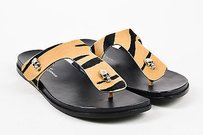 Donald J. Pliner J Black Tan Sandals