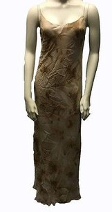 Gold Maxi Dress by Donna Karan Sheer 100