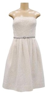 Donna Morgan short dress Ivory/Silver Metallic Detail Strapless 0939rm on Tradesy