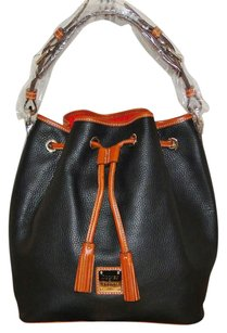 Dooney & Bourke Drawstring Pebble Leather Lined Hobo Bag