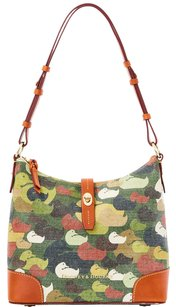 Dooney & Bourke & Leather Canvas Camo Hobo Bag