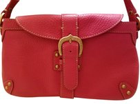 Dooney & Bourke Leather And Gold Baguette
