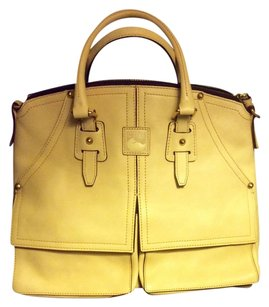 Dooney & Bourke Leather Timeless Satchel in in color Bone